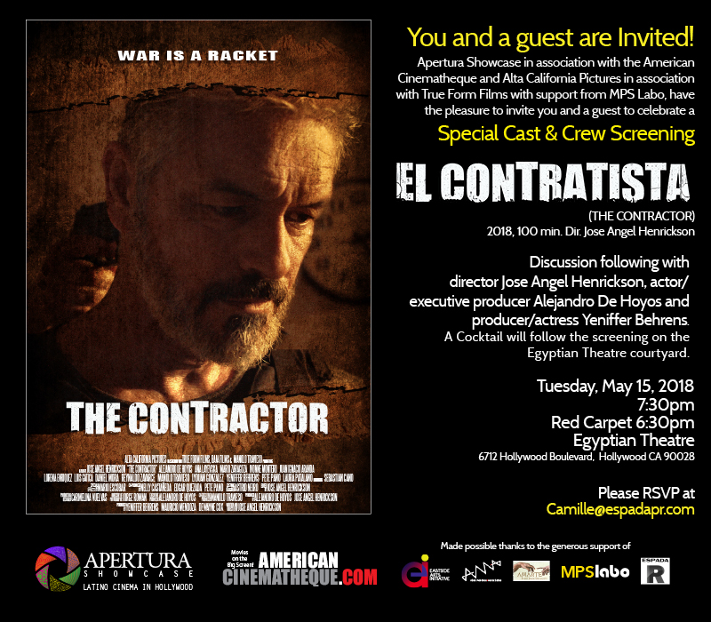 El contratista movie screening nightclubs all media is requested to arrive before 6pm for questions please text me or call 8186346593 ray this is a free invitation only event stopboris Gallery